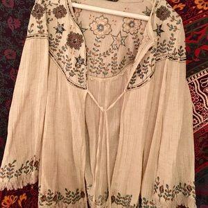 ZARA embellished beige tunic